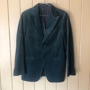 Armani Collezioni Velvet Suit Blazer Sport Coat